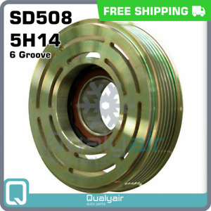 New A c Sanden Pulley 6 Groove For Sd508 5h14 Compressor