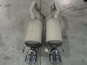 05 08 Corvette C6 Axle Back Exhaust Mufflers Polished Tips Aa6362
