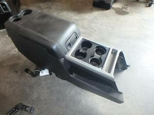 11 16 Ford F250 F350 Front Center Console Black Leather Lid Oem