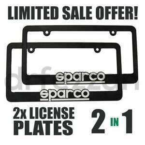 Sparco Blue Pair Jdm Lanyard Keychain Seat Belt License Plate Frame Sale Harness