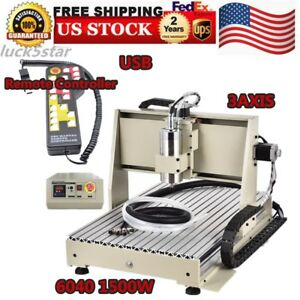 6040 3axis Cnc Router Usb 1500w Engraver Machine Engraving Milling