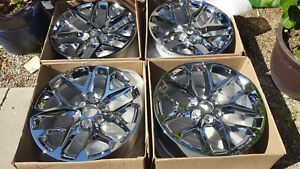 New Gm Chevy Suburban Tahoe Factory Oem 22 Chrome Wheels Rims Ck156 19301156