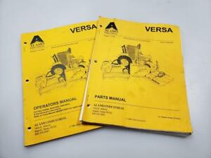 Versa Boom Flail Mower Operators And Parts Manual Set By Alamo Industrial