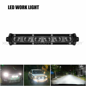7inch 60w Spot Beam Slim Led Work Light Bar Single Row Car Suv Off Road Lamps