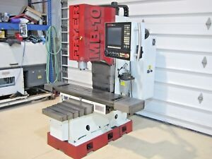 Fryer Mb 10 R Cnc Vertical Machining Center Bed Mill 50 Table Cat 40 4th Axis