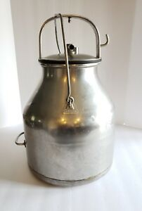 Vintage Stainless Steel De Laval Milk Can Bucket 5 Gallon Pail Farm Dairy
