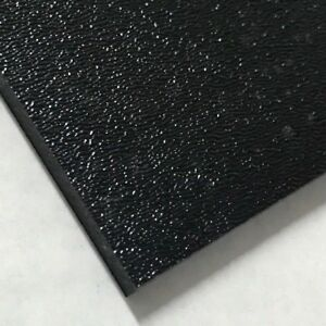 Abs Black Plastic Sheet 1 16 X 10 X 11 Textured 1 Side Vacuum Forming