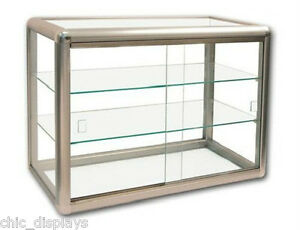 Glass Display Case Bronze Countertop Case With Key Showcase Fixture Boutique