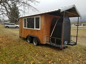 2016 7 X 17 Pizza Concession Trailer With Porch For Sale In Montana