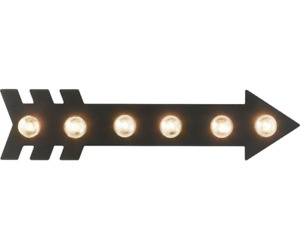 Arrow Black Metal Wall Lighted Marquee Sign indoor Outdoor Use Lb18 21