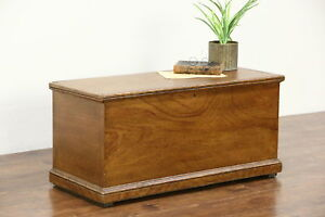 Trunk Blanket Chest Or Coffee Table Grain Painted Pine 1850 S Antique