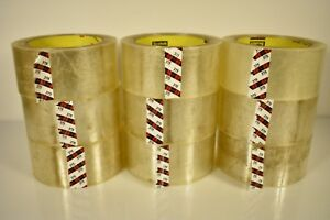 Lot Of 9 Scotch 375 Premium Grade Shipping Packaging Tape 2 In X 56 Yd Clear New