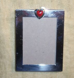 100 Authentic Vintage Tiffany Co Sterling Silver Enamel Heart Photo Frame