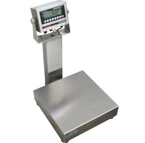 Optima Stainless Steel Washdown Bench Scale 500 Lb X 0 1 Lb Ntep