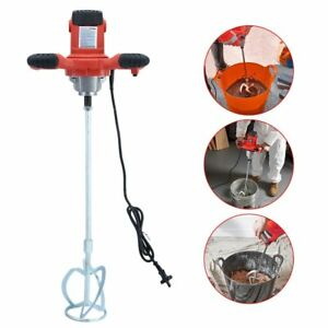 Electric Mortar Mixer 1600w Dual High Low Gear 6 Speed Paint Cement Grout New Zg