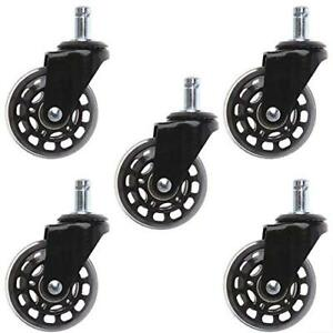 Btmb Office Chair Caster Wheels Pu Heavy Duty Replacement Rollerblade Style With
