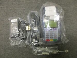 Verifone Omni 3740 Credit Card Terminal W adapter Cables