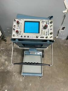 Tektronix 465 Oscilloscope Analog 100mhz 2 Channel Scope mobile 200 1b Model A