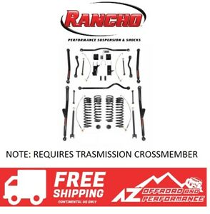 Rancho 4 Crawler Long Arm System No Shocks For 07 18 Jeep Wrangler Jk Jku Black