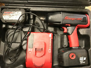 Snap On 18v Impact Wrench With Two Battery s Works Good Model Ct 8850