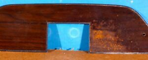 Challenger 1971 Console Top Plate With Woodgrain Overlay Cuda Oem Vintage