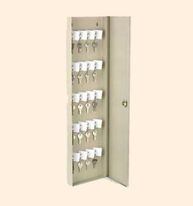 50 Key Safety Lock Box Office Shop Wall Mount Cabinet Safety Control Steel Case