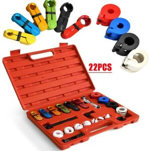 22pcs Fuel Oil Transmission Line Disconnect Tool Set Kit A c Air Conditioning