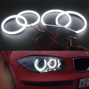 Cotton Smd Led Angel Eyes Halo Ring Drl Kit For Bmw 1 Series E87 2004 2011