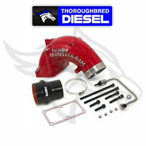 Banks 4 Inch Monster ram Intake Elbow Kit With Fuel Line Red 42790 pc