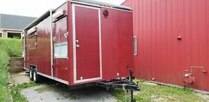 24 Wells Cargo Mobile Rotisserie Kitchen Used Barbecue Concession Trailer For