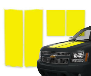 Chevy Avalanche Truck Racing Stripes Rally Decals Yellow Pinstripe 2000 2006