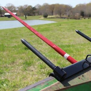 Titan Bucket Hay Bale Spear Universal Attachment Hd 43 Spike Stabilizer Spears