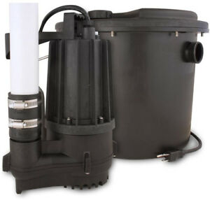Zoeller Thermoplastic Submersible Sump Pump All in one Kit Drainmaker System