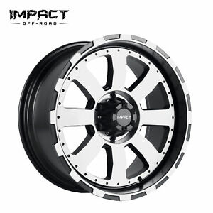 Impact 1 Pc Off Road Wheels 18x9 6x139 7mm 12mm Black Machine Face
