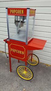 Paragon Intl Usa Commercial Concessions Popcorn Maker Pop 4 Cart Local Pickup