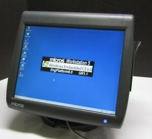 Micros Workstation 5 400814 020a Pos Touchscreen System Unit Terminal Windows Ce