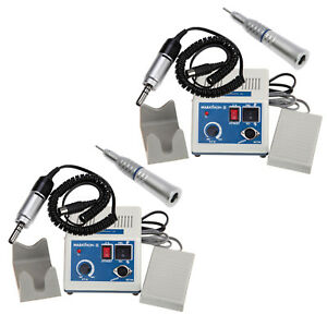 2 X Dental Marathon Micro Motor electric Motor 35k Rpm Straight Nose Cone Nsk