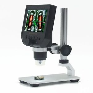 600x Zoom 3 6mp Usb Video Digital Microscope 4 3 Inches 1080p Hd Lcd Display Us