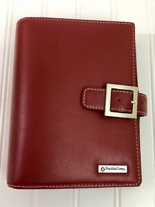 Compact Franklin Covey Red Leather Planner 1 25 Open Binder Organizer Inserts