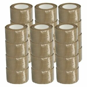 Brown tan Carton Sealing Hotmelt Packing Tape 2 5 Mil 3 X 110 Yards 24 Rolls