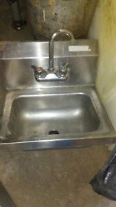 Commercial Stainless Steel Hand Wash Washing Wall Mount Sink