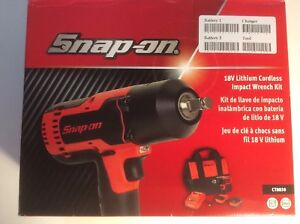 Snap On Ct8850 1 2 18 Volt Lithium ion Impact Wrench Kit Charger New In Box