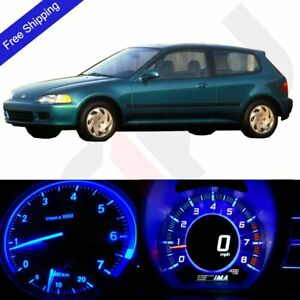 Blue Led Dash Cluster Instrument climate Control Light Kit Fit 92 95 Honda Civic