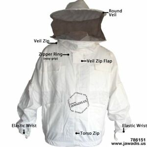 Adult M Beekeeping Protective Gear Bee Jacket With Sheriff Round Veil Xmas Gift