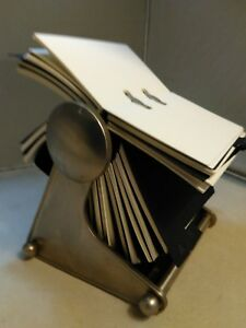 Vintage Office Desk Business Card Rolodex Holder Rolling Rotary Card File Phone