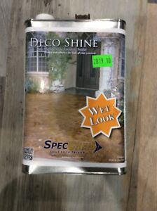 Specchem 1 Gal Clear Deco Shine Wet Look Concrete And Masonry Lacquer Sealer