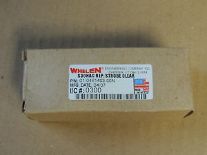 Whelen S30hac Replacement Strobe Light Bulb Clear 01 461403 00n
