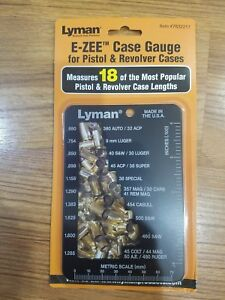 Lymann E-ZEE Case Gauge for Pistol and Revolver Case Lengths