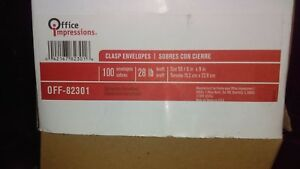 Office Impressions Clasp Envelopes 6 X 9 Brown Kraft 100 Count lot Of 7