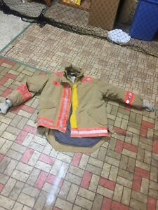 Firefighter Gear Turnout Jacket Coat Morning Pride Janesville 42 Costume Or Use